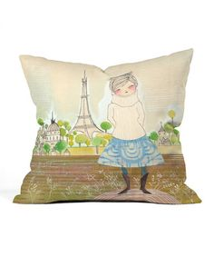 This To Paris Throw Pillow is perfect! #zulilyfinds