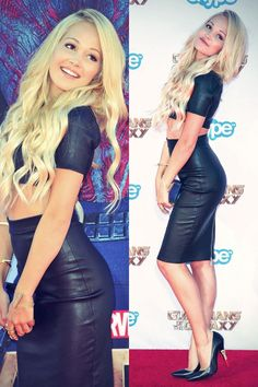 Kelli Berglund attends the premiere of Marvel's Guardians Of The Galaxy