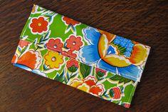 Oilcloth Wallet by dixiediy, via Flickr