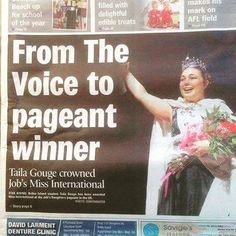Our Miss International Job's Daughter, is front page news! Way to go girl! This is such a wonderful thing for our organization! Jobs Daughters, International Jobs, Front Page News, Masons, Grand Hotel, Pageant, Screens, The Voice, Bee