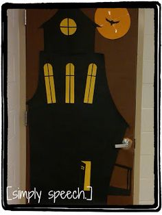 Spooky Speech Room Door Decorations! Halloween ... & I think we need to do this on a door. For sure. | For the little ...