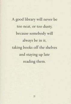 Great quote! Book love!