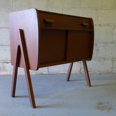 Mid Century Modern styled TEAK CABINET entryway table