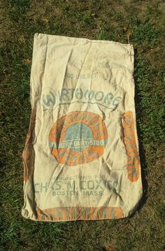 Vintage Wirthmore Poultry Feed Sack by theindustrycottage on Etsy