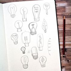 Day 48 lightbulbs for today's #DellowDailyDrawing