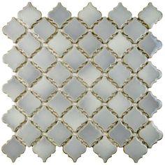 Merola Tile Hudson Tangier Grey Eye in. x 5 mm Porcelain Mosaic Tile at The Home Depot - Mobile Ceramic Mosaic Tile, Ceramic Subway Tile, Mosaic Wall Tiles, Glazed Ceramic, Porcelain Tile, Mosaic Glass, Bath Tiles, Marble Mosaic, Arabesque Tile