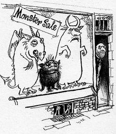 Searle monsters Ronald Searle Cultural Estate ltd http://www.ronaldsearleculturalestate.com/