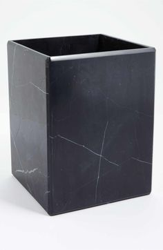 Main Image - Waterworks Studio 'Luna' Black Marble Wastebasket (Online Only)