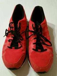 Men's Reebok Zigtech Athletic Running Shoes Red Black Size 11.5M #Reebok #RunningCrossTraining