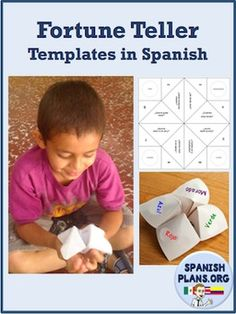 Cootie Catcher, Fortune Teller, Sacapiojos, Adivinador. This orgami piece goes by many names, but one thing is for certain; your students are going to love using it to practice their Spanish.This template comes with 6 ready to use fortune tellers plus 1 blank template.