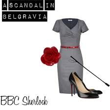 A wardrobe like Irene Adler's--riding crop included!