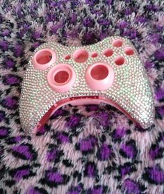 Hey, I found this really awesome Etsy listing at http://www.etsy.com/listing/156986778/pink-jeweled-xbox-360-controller-shell