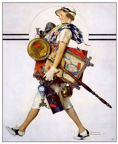"""1937 ... """"Antique Hunter' - Norman Rockwell"""