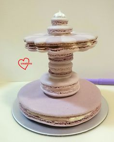 It's another unicorn macaron carousel! But this time with a more unique flavour - lychee! And in sweet pastel purple this time for a young g...