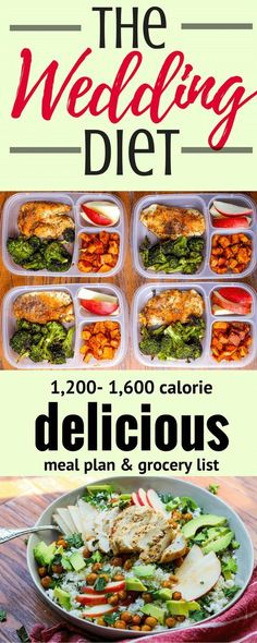 The Wedding Diet Meal Plan: Week 1 via @Ally's Cooking