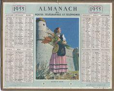 calendrier 1955