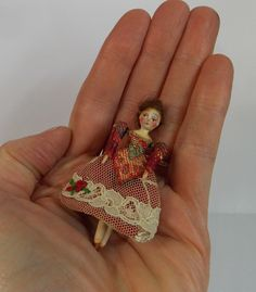 Queen Anne Style Doll Miniature