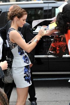 Emma Watson (in Erdem) at the TIFF premiere of The Perks of Being a Wallflower, September 8th