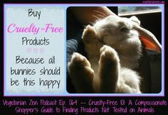 "VZ 064 – Cruelty Free 101: An Animal-Lover's Guide to Finding Products Not Tested on Animals  -- In this first episode of a 2-part series, you'll learn what ""cruelty free"" means, hear 4 myths about cruelty free products, and learn about independent certification programs geared toward protecting animals and providing cruelty free products to consumers."