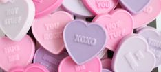 DIY ombre conversation heart soaps