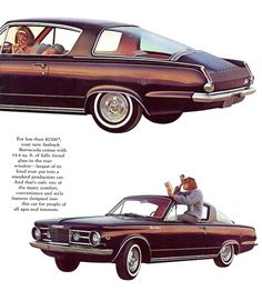 The Great Charm of Vintage Cars - Popular Vintage 60s Muscle Cars, Plymouth Muscle Cars, 1960s Cars, Retro Cars, Classic Cars, Classic Auto, Plymouth Barracuda, Car Advertising, Us Cars