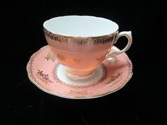 Colclough Made in England Bone China Dark Pink by Cupsofthepast