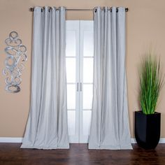 Ava Stripe Linen Blend 96-inch Curtain Panel - 15438471 - Overstock.com Shopping - Great Deals on Curtains