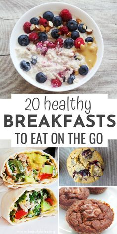 Recipes Breakfast Wraps 20 easy and healthy breakfast recipes you can meal prep and eat on the go! Breakfast blueberry muffins, banana pancakes, breakfast wraps, breakfast quesadillas, egg muffins and so much more! Healthy Breakfast On The Go, Clean Eating Breakfast, Healthy Breakfast Smoothies, Vegetarian Breakfast, Healthy Brunch, Avocado Breakfast, Healthy Breakfasts, Breakfast Ideas, Clean Eating Recipes