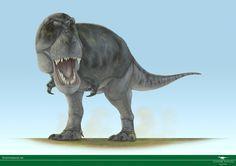 Paleoarte por Vitor Silva. Tyrannosaurus rex