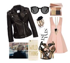 night party by lilia-naiman on Polyvore featuring polyvore fashion style Anine Bing Versace Chicnova Fashion Sonix Karen Walker Bobbi Brown Cosmetics Nome clothing