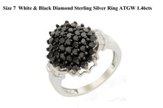 Premium Black Diamonds, Set Into a Glittering Pave Style, Flanked by GH/SI Baguette Diamonds. An absolute stunner!