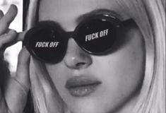 sunglasses girl Aesthetic captions fuck off quotes - sunglasses Boujee Aesthetic, Badass Aesthetic, Bad Girl Aesthetic, Aesthetic Collage, Aesthetic Pictures, Aesthetic Captions, Aesthetic Vintage, Aesthetic Grunge, Black And White Picture Wall