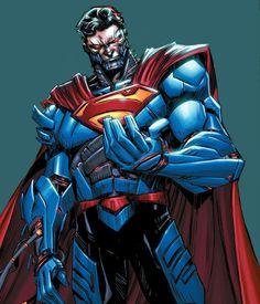 Brother of Jor-El and father to Kara Zor-El, Zor-El used reverse engineering of Brainiac technology and saved Argo City from Krypton's destruction. He now operates as the Cyborg Superman, an enemy to his daughter, Supergirl. Mundo Superman, Superman News, Superman Family, Superman Man Of Steel, Batman And Superman, Superman Artwork, Spiderman, Superhero Characters, Dc Comics Characters