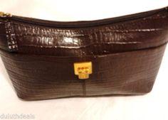 Etienne Aigner Leather Purse Shoulder Bag Croco Embossed. $25.00