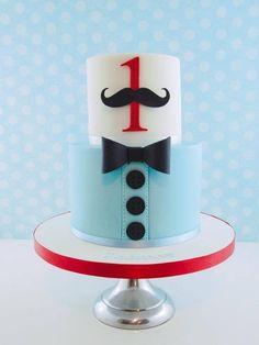 "Mustache ""Little Man"" cake"