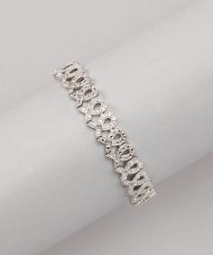 Take a look at this Diamond & Silver Ribbon Bracelet by Marsala on #zulily today!
