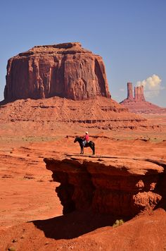 Horse back riding at John Ford's Point, Monument Valley, Arizona