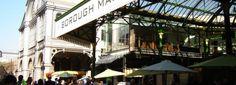 Borough Market Londen met allerlei lekkere eetkraampjes