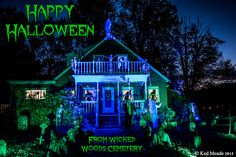Something wicKED this way comes....: Wicked Woods Cemetery Halloween 2015