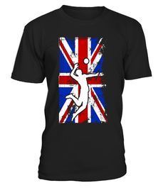 Volleyball UK Flag United Kingdom Player Silhouette T-Shirt
