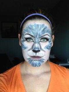Grey Wolf Halloween Makeup Ideas for Teens