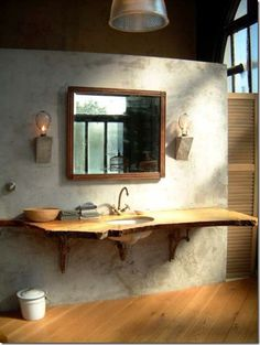 Rustic. Love it.
