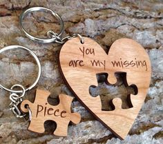 Missing Piece Key Ring - Engraved and Signed