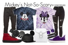 """""""Mickey Mouse + Minnie Mouse"""" by leslieakay ❤ liked on Polyvore featuring Yves Saint Laurent, Topshop, Effy Jewelry, Anne Klein, Pierre Hardy, Daniel Wellington, Vans, Halloween, disney and disneybound"""