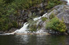 Belize Inlet Waterfall