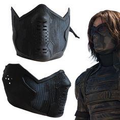 Captain America 2 Winter Soldier James Buchanan Bucky Barnes Cosplay Latex Mask   eBay