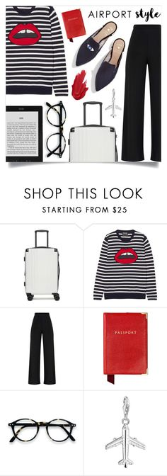 """Travel In Style"" by jaudrey ❤ liked on Polyvore featuring CalPak, Markus Lupfer, Aspinal of London, Thomas Sabo and airportstyle"