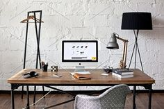 Industrial style workspace - photo by show it better on @creativemarket