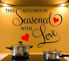 This Kitchen Is Seasoned with Love Wall Quote Sticker Art Decor | eBay