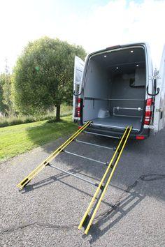 Snowmobile Ramp Glides Benz Sprinter, Mercedes Benz, Upholstery, Van, Camping, Campsite, Tapestries, Reupholster Furniture, Vans